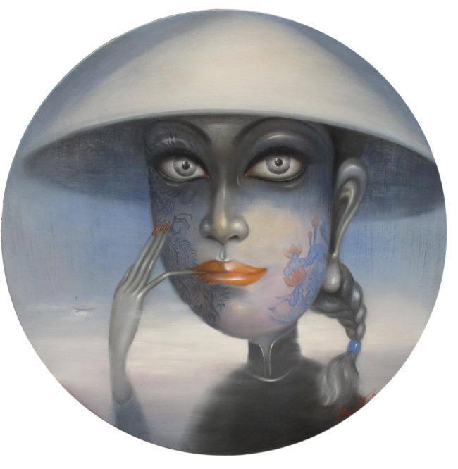 Bui Thanh Tam_Thiếu Nữ Việt Nam 2_Young Girl Vietnamese 2_Sơn dầu trên toan_Oil on canvas_80 x 80 cm_2017