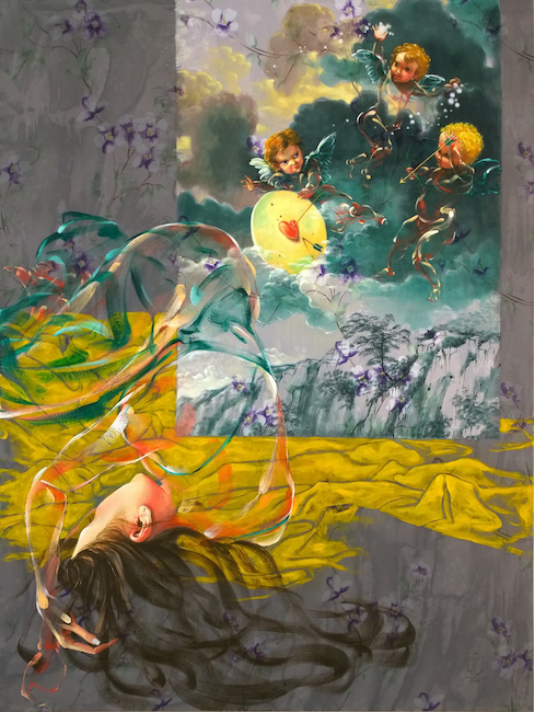 Nguyen-Minh-Nam_-Giac-Mo-Tinh-Yeu_-Dream-of-Love_2018_Oil-on-canvas_160-x-120-cm