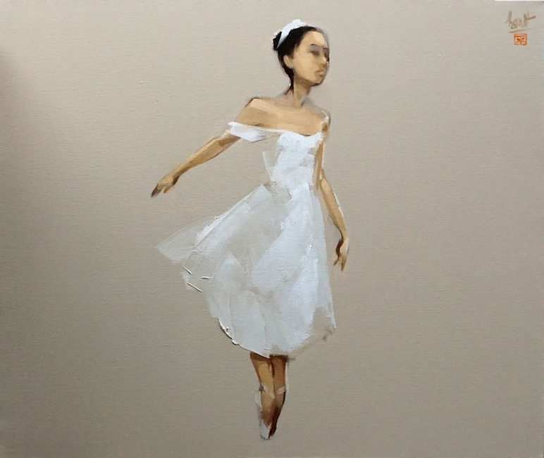NTB_Buom Trang_ Ballerina_2019_ Oil on canvas_80 x 95 cm