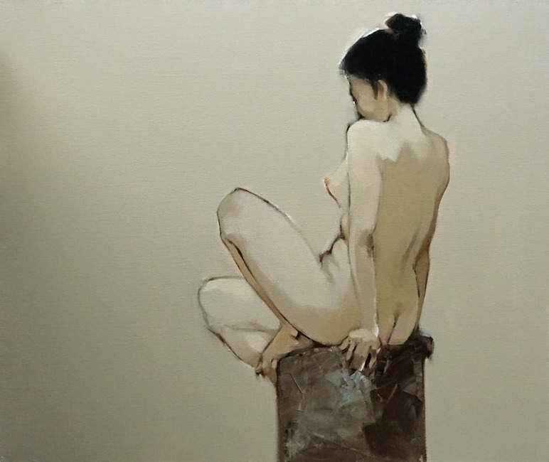 NTB_Nguoi Mau Ngoi_Model_2019_ Oil on canvas_80 x 95 cm