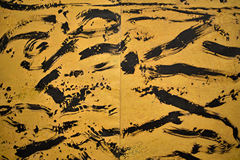 Nguyen Cam_Hoang Ha_Fleuve Jaune Yellow River_2015_Mixed media on canvas_162 x 194 cm