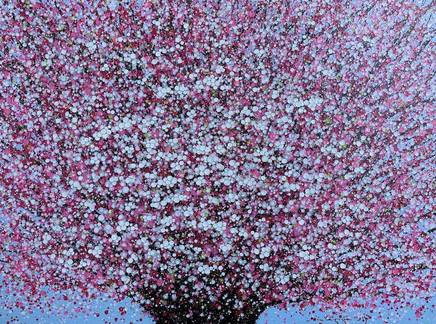Lieu Nguyen_Cherry Blossom 2_2019_Acrylic on canvas_120 x 160 cm