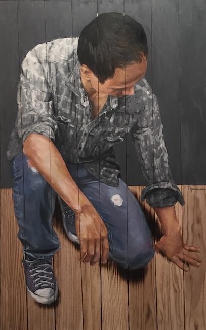 Chủ Nhật 2 Sunday 2 2019 Sơn dầu gỗ Oil on wood 120 x 70 cm