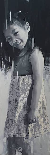 NVS_ Con Gai Toi_ My Daughter_2019_Oil on canvas_155 x 55 cm