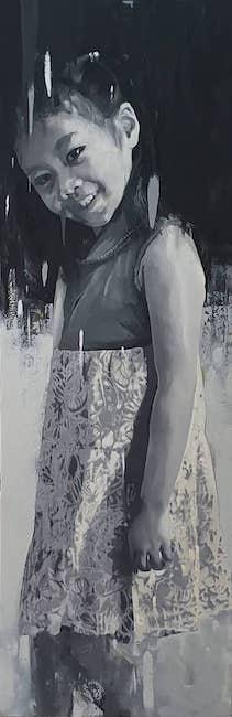 NVS_ Con Gai Toi_ My Daughter_2019_Oil on canvas_155 x 55 cm