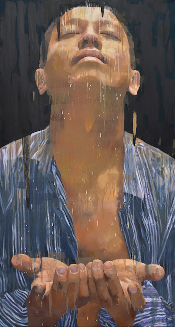 NVS_Rain_Mua_2019_Oil on canvas_160 x 85 cm