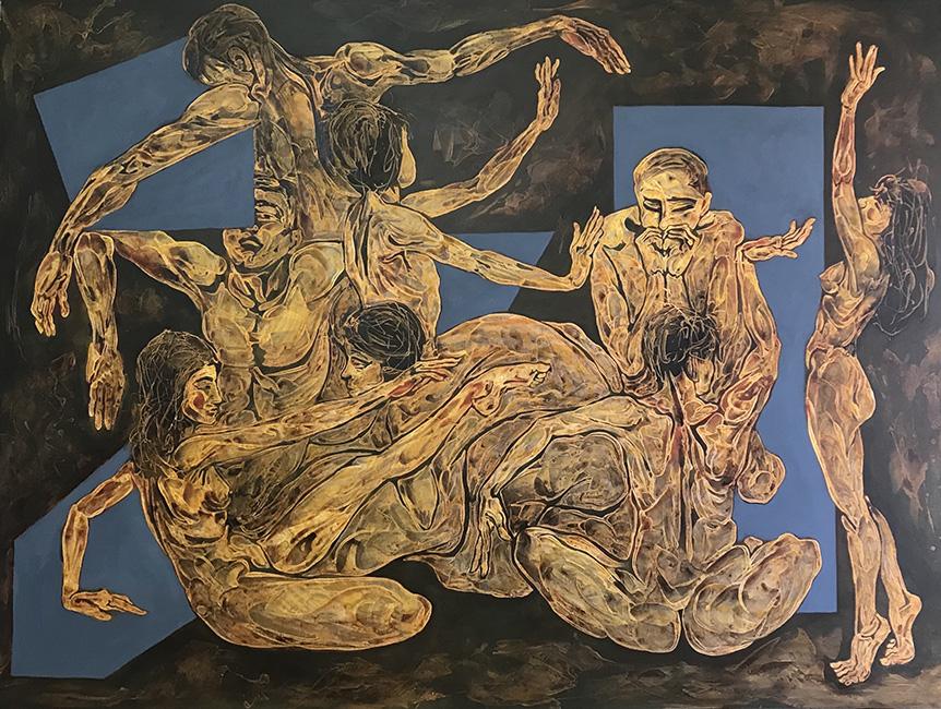 Vũ Điệu Dance 2019 Chất liệu tổng hợp trên vải Mixed media on canvas 150 x 200 cm
