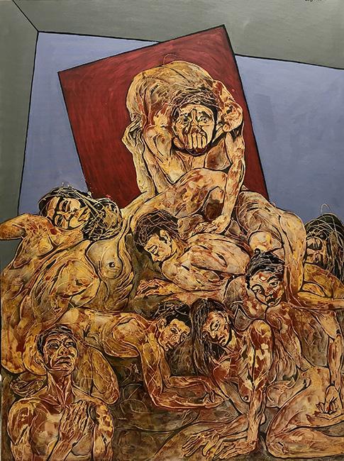 Sự Kiêu Hãnh Pride 2019 Chất liệu tổng hợp trên vải Mixed media on canvas 200 x 150 cm