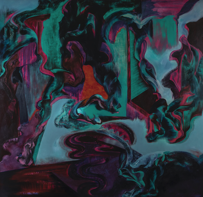 NTT_Tron_Slip_Oil, acrylic on canvas_200 x 195 cm