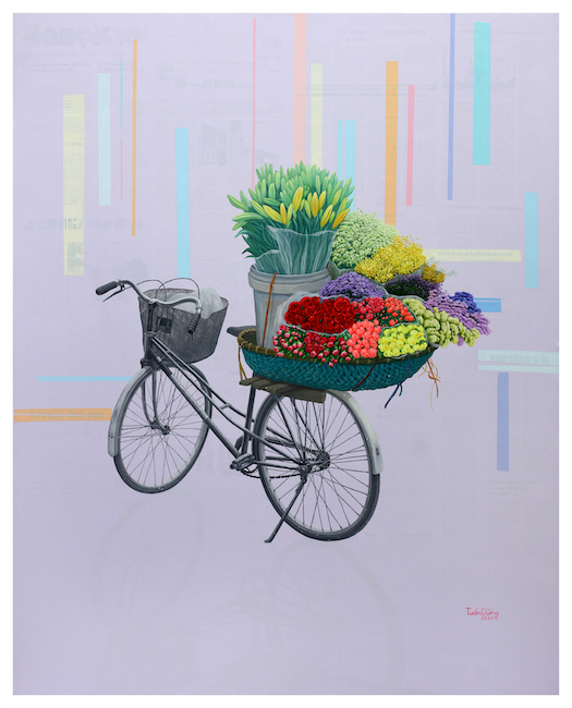 Nguyen Tuan Dung_Huong Pho Moi_Fragrance of The New City_2020_Acrylic on canvas_100 x 80 cm