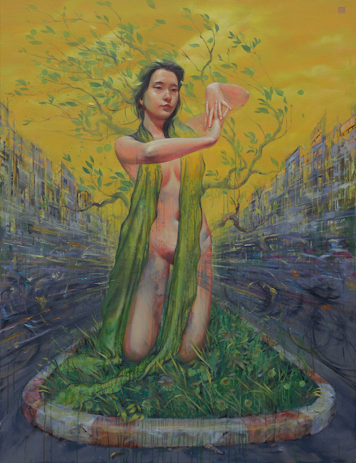 Suy Van 02 - Phan Con Lai Cua Khu Vuon_The Remain Part of The Garden_2020_Oil on linen_130 x 100 cm