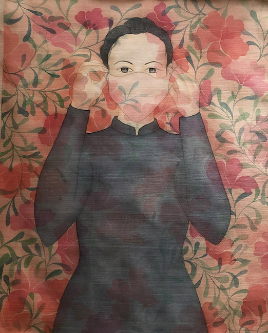 NTCG_ De Hanh Phuc Hon 2_ To Be Happier 2_2020_Water color and pigment on silk_70 x 80 cm