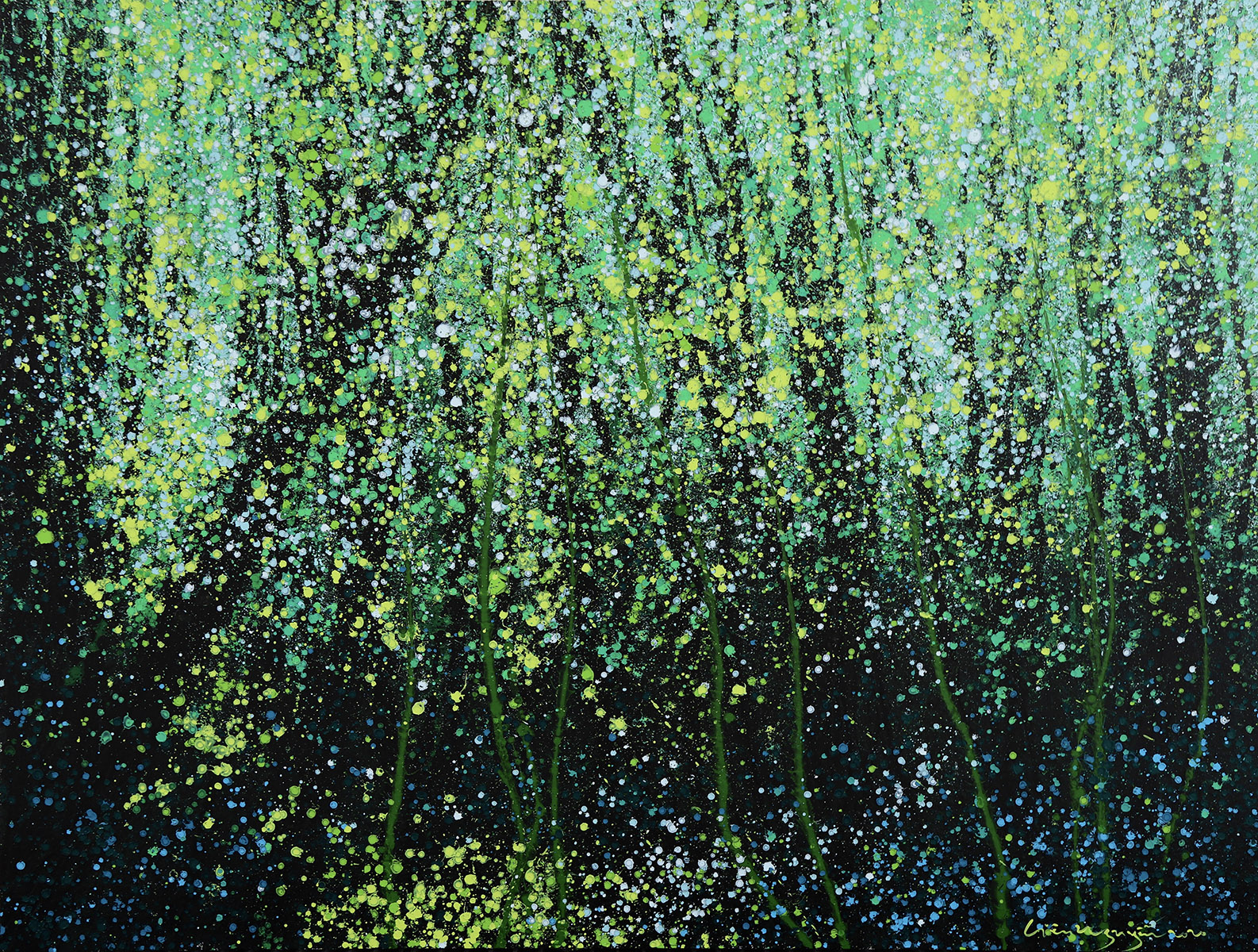 Lieu Nguyen_Tropical Forest_2020_Acrylic on canvas_120 x 160 cm