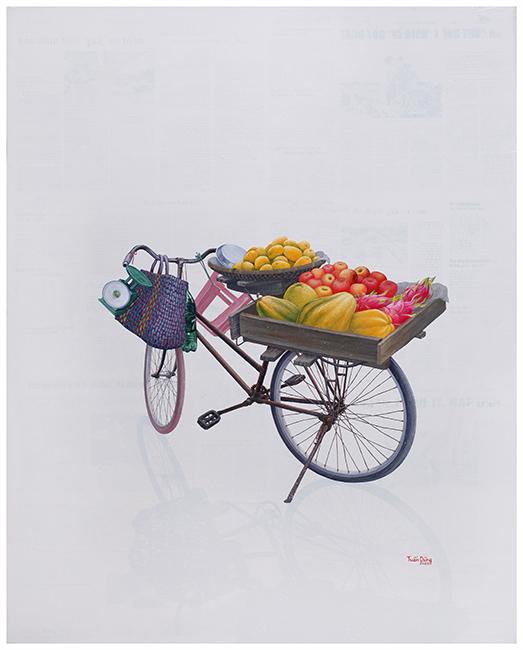 Nguyen Tuan Dung_Ngot Ngao Pho Xuan_Streets of Spring_2021_Acrylic on canvas_100 x 80 cm
